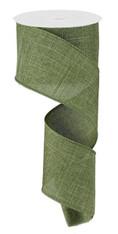 """2.5""""X10YD ROYAL BURLAP - FERN GREEN"""