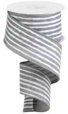 "2.5""X10YD IRREGULAR STRIPES ON ROYAL - LT GREY/WHITE"