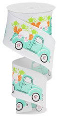 """2.5""""X10YD TRUCK W/BUNNY/CARROTS ON - WHT/PNK/ORNG/GRN"""