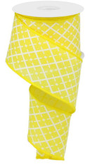 "2.5""X10YD GLITTERED ARGYLE ON ROYAL/YELLOW"