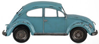 "12""L X 5""H HALF BUG CAR WALL DECOR - ANTIQUE SOFT BLUE"