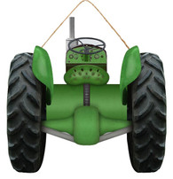 """11.75""""H X 12""""W TRACTOR SIGN - GREEN/BLACK"""