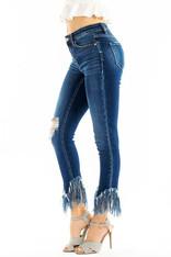 Kan Can Jeans-FRINGE DENIM