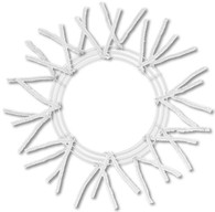 "15"" WIRE, 25"" OAD-PENCIL WORK - WREATH X18 TIES, WHITE"