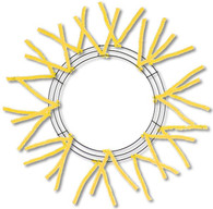 """15"""" WIRE, 25"""" OAD-PENCIL WORK - WREATH X18 TIES, YELLOW"""