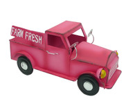 "14"" Farm Fresh Metal Pink Up Truck Planter"