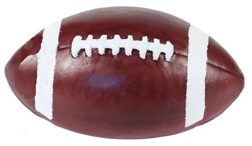 "11""L Natural Brown Football. Great for putting them on wreaths, memorial pieces, centerpieces and even Christmas Trees!"