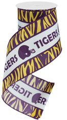 "4"" X 10 Yds Tigers W/Football and Helmet"
