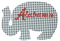 "11""L Elephant W""Alabama"" Print-Houndstooth/Crimson"