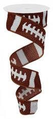 "1.5"" X 10 YD Football Laces Ribbon"