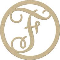 "23"" Circle Letter F"