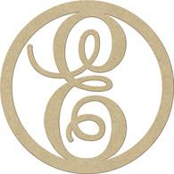 """23"""" Circle Letter E"""