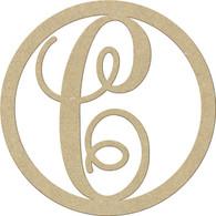 "23"" Circle Letter C"