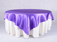 60 x 60 Satin Table Overlays -Purple