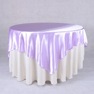 60 x 60 Satin Table Overlays- Lavender