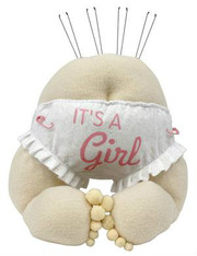 "12""H Baby Bottom Decor-Its a Girl"