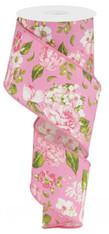"2.5""X10YD Floral -Rose/Pink"