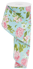 "2.5""X10YD Floral - Rose/Green/Blue"