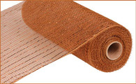 "10""X10YD Metallic Mesh - Brown W/Copper Foil"