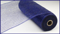 "10""X10YD Metallic Mesh - Navy W/Royal Blue Foil"