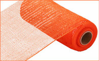 "10""X10YD Metallic Mesh - Orange W/Orange Foil"