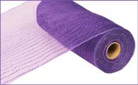 """10""""X10YD Metallic Mesh - Purple W/Purple Foil"""