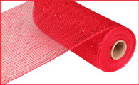 "10""X10YD Metallic Mesh - Red W/Red Foil"