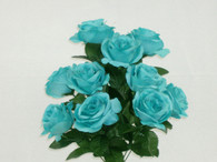 Color Fast Lillian Open Rose Bush-Aqua