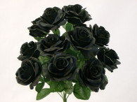 Color Fast Lillian Open Rose Bush-BlacK