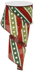 """2.5""""X10YD Glitter Diagonal Lines/Dots - Red/Emerald/Lime/White"""