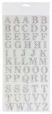 "1""Rhinestone Letter Sticker Page - Silver"