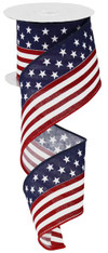 "2.5"" X 10YD Stars and Stripes/Royal - Red/White/Blue"
