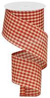 "2.5""X10YD PRIMITIVE GINGHAM CHECK-RED"