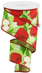 "2.5""X10YD Apples on Royal - BRT Green/Red"