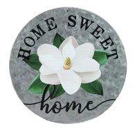 "12"" DIA Home Sweet Home W/Magnolia - Galvanize/Black/Cream/Green"