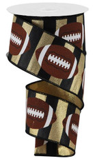 "2.5""X10YD FOOTBALLS ON ROYAL-GOLD"