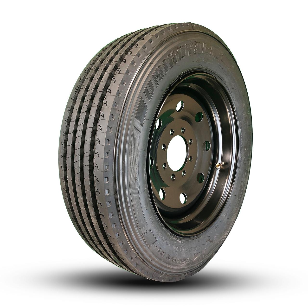 8-Lug Rancher wheel with Uniroyal RS20 225/70R19.5 LRG.