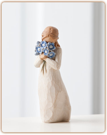 Willow Tree (R) Figure - Forget-me-not - 'Holding thoughts of you closely'