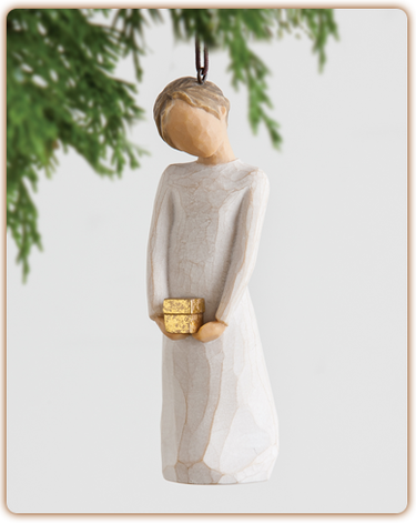 Willow Tree Nativity (R) - Spirit of Giving Ornament -  'Generosity is your shining gift'