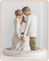 Willow Tree (R) Cake Topper - Around You Cake Topper - '...just the nearness of you'