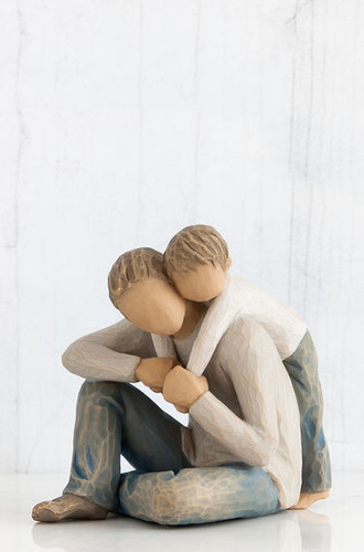 Willow Tree Figurine, That's My Dad, captures the bond between fathers and sons that will last a lifetime for both