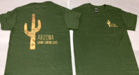 Grey Green Saguaro Silhouette Map T-Shirts