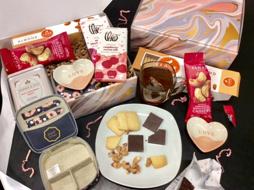 The Nurturer Box; shown both as packed and as being enjoyed!