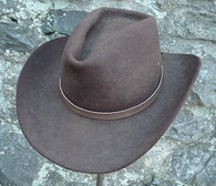 WESTERN HATBAND Hat Band Light Brown SNAKE SKIN W TIES NEW