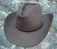 WESTERN HATBAND Hat Band BROWN SNAKE SKIN W TIES NEW!