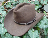 WESTERN HAT BAND Hat Band BLACK GENUINE SNAKE SKIN with 3 PC BUCKLE SET