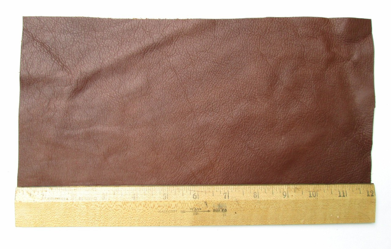 Scrap Lace Leather Medium Brown Cowhide 18 X 7 Piece