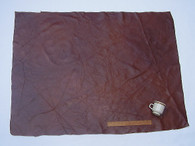 UPHOLSTERY LEATHER PIECE COWHIDE DARK BROWN Light Weight 12 Square Feet 3' x 4'