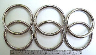 "STEEL RINGS WELDED Nickel Plate 2"" ID 15 pcs"