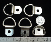 "STEEL DEE RINGS w Clip Nickel Silver Finish 5/8"" 30 pcs"